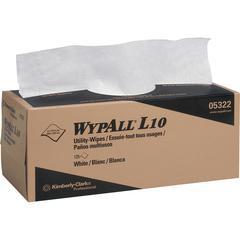 Wypall WypAll L10 Utility Wipes - Wipe - 125 / Box - 18 / Carton - White