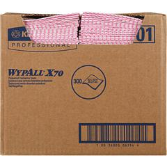 Wypall WypAll X70 Red Foodservice Wipers - Wipe - 300 / Carton - Red