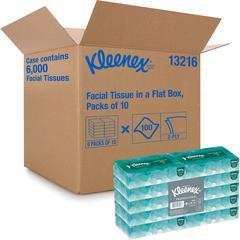 "Kleenex Facial Tissue Conven Case - 2 Ply - 8"" x 8.40"" - White - Soft, Absorbent, Strong - For Face - 100 Quantity Per Box - 6000 / Carton"
