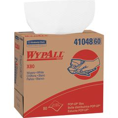 """Wypall WypAll X80 Wipers Pop-up Box - Wipe - 9.10"""" Width x 16.80"""" Length - 80 / Box - 80 / Each - White"""