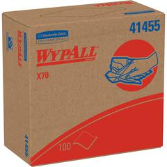 "Wypall WypAll X70 Wipers Pop-up Box - 9.10"" x 16.80"" - White - Hydroknit - Durable, Absorbent, Strong, Reusable, Embossed - For Multipurpose - 100 Sheets Per Box - 1000 / Carton"