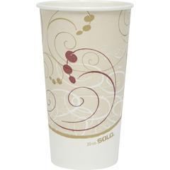 Solo Symphony Design SSP Hot Cups - 20 fl oz - 600 / Carton - Tan - Paper - Hot Drink, Coffee, Tea, Cocoa