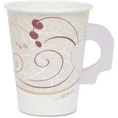 Solo Poly Lined Hot Paper s - 8 fl oz - 1000 / Carton - Beige - Paper - Hot Drink, Coffee, Tea, Cocoa
