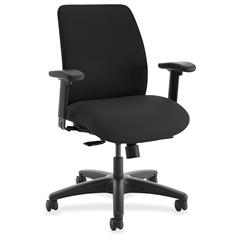 "HON ComfortSelect A9 Task Chair - 5-star Base - Black - 27.5"" Width x 27"" Depth x 40"" Height"