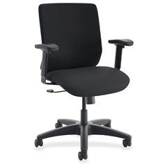 "HON ComfortSelect B6 Task Chair - Plush Seat - 5-star Base - Black - 26.8"" Width x 30.8"" Depth x 50"" Height"