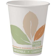 Solo Bare Eco-Forward SS PLA Paper Hot Cups - 50 / Bag - 8 fl oz - 20 / Pack - Multi - Hot Drink, Beverage
