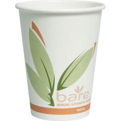 Solo Bare Paper Hot Cups - 12 fl oz - 50 / Pack - Multi - Paper - Hot Drink, Beverage - Recycled