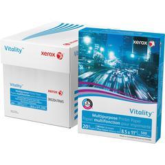 "Xerox Vitality Inkjet Print Copy & Multipurpose Paper - Letter - 8 1/2"" x 11"" - 20 lb Basis Weight - 92 Brightness - 500 / Ream - White"