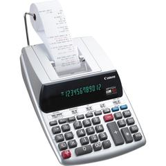 Canon MP25DV-3 Printing Calculator - Dual Color Print - Clock, Calendar, Durable, Sign Change, Built-in Memory - 12 Digits - Silver - 1 Each