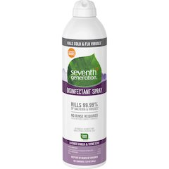 Seventh Generation Lavender/Thyme Disinfectant Spray - Spray - 0.11 gal (13.90 fl oz) - Lavender Vanilla & Thyme Scent - 8 / Carton - Clear