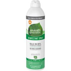Seventh Generation Eucalyptus/Thyme Disinfectant Spray - Spray - 0.11 gal (13.90 fl oz) - Eucalyptus Spearmint & Thyme Scent - 8 / Carton - Clear