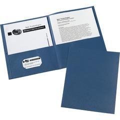 "Avery Two-Pocket Folders - Letter - 8 1/2"" x 11"" Sheet Size - 20 Sheet Capacity - 2 Internal Pocket(s) - Dark Blue - 125 / Carton"