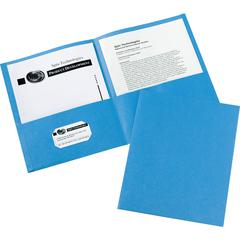"Avery Two-Pocket Folders - Letter - 8 1/2"" x 11"" Sheet Size - 20 Sheet Capacity - 2 Internal Pocket(s) - Light Blue - 125 / Carton"