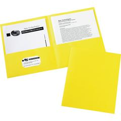 "Avery Two-Pocket Folders - Letter - 8 1/2"" x 11"" Sheet Size - 20 Sheet Capacity - 2 Internal Pocket(s) - Yellow - 125 / Carton"