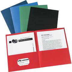 "Avery Two-Pocket Folders - Letter - 8 1/2"" x 11"" Sheet Size - 20 Sheet Capacity - 2 Internal Pocket(s) - Assorted - 125 / Carton"