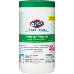 Clorox Hydrogen Peroxide Disinfecting Wipes - Wipe - 95 - 95 / Each - White