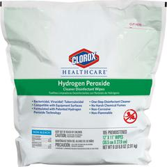 Clorox Hydrogen Peroxide Disinfecting Wipes - Wipe - 185 - 185 / Each - White