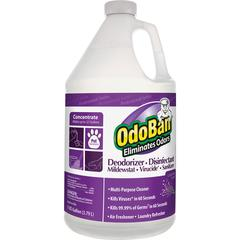 OdoBan Deodorizer Disinfectant Cleaner Concentrate - Concentrate Liquid - 1 gal (128 fl oz) - Lavender Scent - 1 Each - Purple