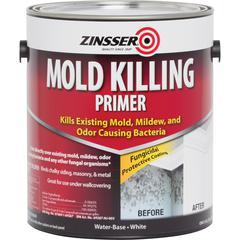 Zinsser Mold Killing Primer - Liquid - 1 gal (128 fl oz) - 1 Each - White