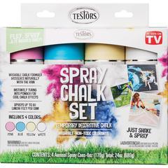 Testors Spray Chalk Set - 6 fl oz - 1 Kit - Assorted