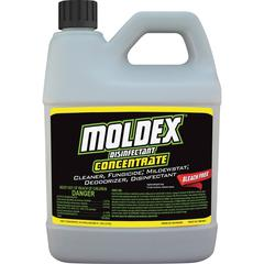 Moldex Disinfectant Concentrate - Concentrate Liquid - 0.50 gal (64 fl oz) - Fresh Clean Scent - 1 Each - White