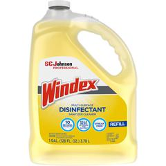 Windex Multisurface Disinfectant - Liquid - 1 gal (128 fl oz) - Bottle - 1 Each - Yellow
