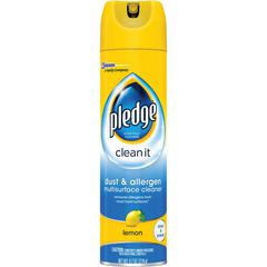 Pledge Dust/Allergen Furniture Spray - Ready-To-Use Aerosol - 9.70 fl oz - Outdoor Fresh Scent - 1 Each - Off White