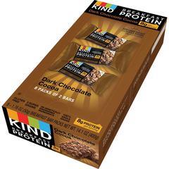 KIND Dark Chocolate Cocoa - Trans Fat Free, High-fiber, Low Sodium, Dairy-free, Gluten-free, Peanut-free - Dark Chocolate, Cocoa - 1.76 oz - 8 / Box