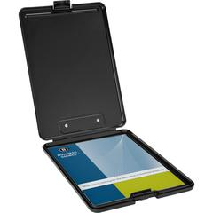Business Source Plastic Storage Clipboard - Black - 12 / Carton