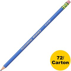 Dixon Eraser Tipped Checking Pencils - HB Lead - Blue Lead