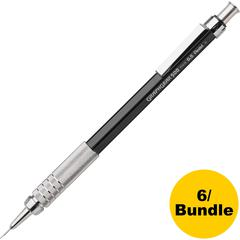 Pentel Graph Gear 500 Mechanical Pencils - #2 Lead - 0.5 mm Lead Diameter - Refillable - Black Barrel - 6 / Bundle
