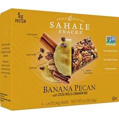 Sahale Snacks Snack Bars - Non-GMO - Cocoa, Cinnamon, Banana Pecan - 1.40 oz - 4 / Box