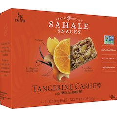 Sahale Snacks Snack Bars - Non-GMO - Vanilla, Mango, Tangerine Cashew - 1.40 oz - 4 / Box