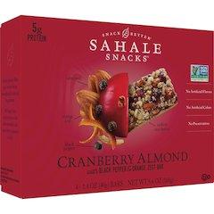 Sahale Snacks Snack Bars - Non-GMO - Cranberry Almond, Black Pepper, Orange Zest - 1.40 oz - 4 / Box