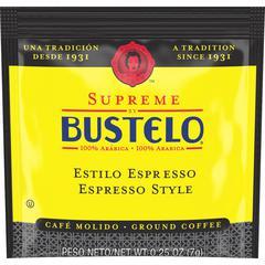 Folgers Supreme by Bustelo Espresso Style Ground Coffee - Espresso, Cappuccino, Bustelo - Dark - 0.2 oz - 120 / Carton