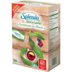 Splenda Naturals Stevia Sweetener - Stevia Flavor - Natural Sweetener - 140/Box - 140 Per Box