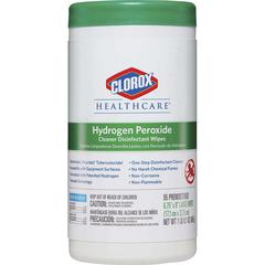 Clorox Hydrogen Peroxide Disinfecting Wipes - Wipe - 95 - 6 / Carton - White