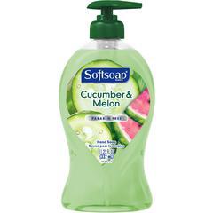Softsoap Cucumber/Melon Hand Soap - Crisp Cucumber & Melon Scent - 11.3 fl oz (332.7 mL) - Pump Bottle Dispenser - Hand - Green - 1 Each