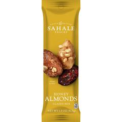 Folgers Honey Almonds Glazed Snack Mix - Non-GMO, Gluten-free - Sweet and Salty - 1.50 oz - 18 / Carton