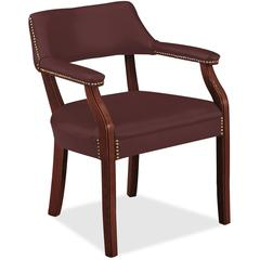 "HON 6550 Series Hardwood Frame Guest Chair - Merlot Seat - Merlot Back - Hardwood Frame - Four-legged Base - 20"" Seat Width x 20"" Seat Depth - 24"" Width x 25"" Depth x 30.5"" Height"