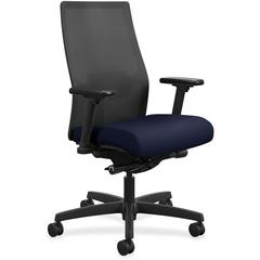 "HON Ignition Seating Mid-back Task Chair - Fabric Seat - 5-star Base - Navy - 27"" Width x 28.5"" Depth x 44.5"" Height"
