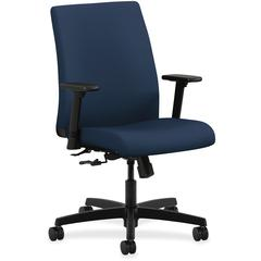 "HON Ignition Series Low-back Task Chair - Fabric Navy Seat - Black Frame - 27.5"" Width x 36"" Depth x 41"" Height"