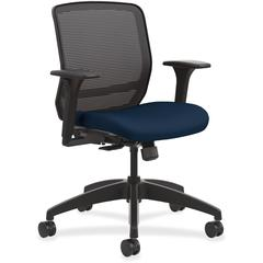 HON Quotient Mesh Mid-back Task Chair - Foam Seat - Fabric Back - 5-star Base