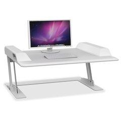 "Safco Merge Sit-Stand Desktop Workstation - 27.50"" Height x 36"" Width x 3.50"" Depth - White"