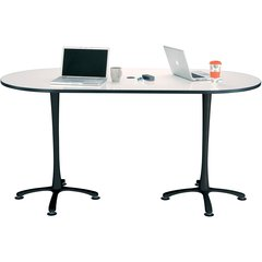 """Safco Electric Height-adjustable Teaming Table Top - Powder Coated, White Rectangle Top - 72"""" Table Top Length x 36"""" Table Top Width x 1"""" Table Top Thickness"""