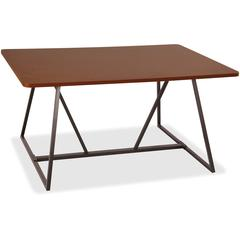 """Safco Oasis Sitting-Height Teaming Table - High Pressure Laminate (HPL), Cherry - 48"""" Table Top Length x 29.50"""" Table Top Width - 60"""" Height - Assembly Required"""