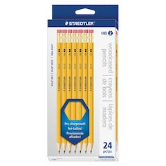 Staedtler Pre-sharpened No. 2 Pencils - 2HB Lead - Yellow Barrel - 24 / Box