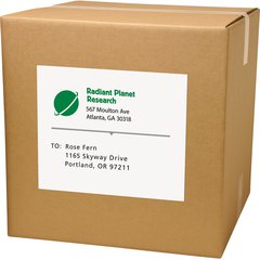 """Avery TrueBlock Laser Shipping Labels - Permanent Adhesive - 8 1/2"""" Height x 11"""" Width - Laser - White - 1 / Sheet - 500 Total Label(s) - 500 / Pack"""