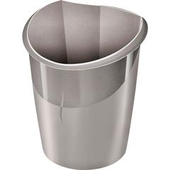 "CEP Ellypse 15-liter Waste Bin - 3.96 gal Capacity - Handle - 15"" Height x 11"" Width x 12.5"" Depth - Polypropylene - Gray"
