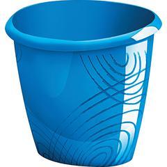"CEP Waste Bin - 3.96 gal Capacity - Oval - 12.7"" Height x 14.3"" Width x 11.8"" Depth - Polypropylene - Ocean Blue"